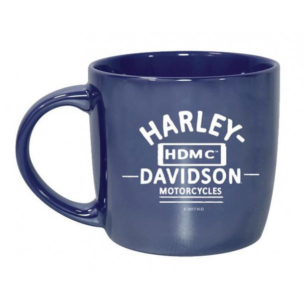 Harley-Davidson® Blue City Lustre Ceramic Coffee Cup, Blue 14 oz/4,1 dl