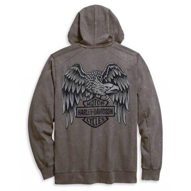 Harley-Davidson® Men's Distressed Heritage Eagle Zippered Front Hoodie