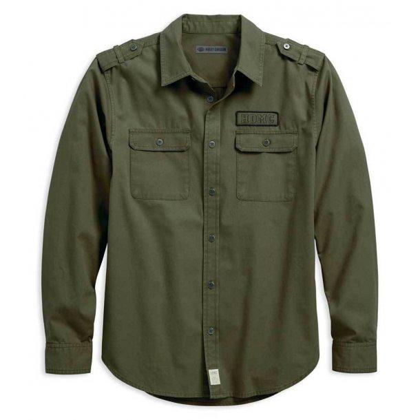 Harley-Davidson® Men's HDMC Canvas Slim Fit Long Sleeve Woven Shirt