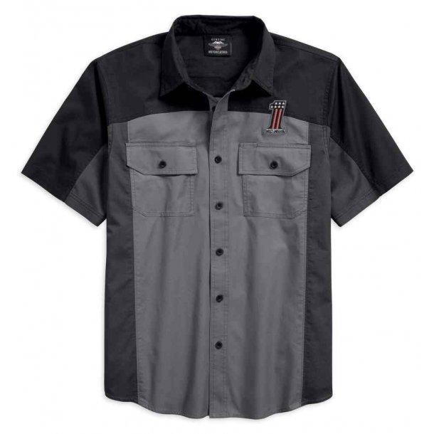 Men's #1 Colorblocked Short Sleeve Woven Shirt