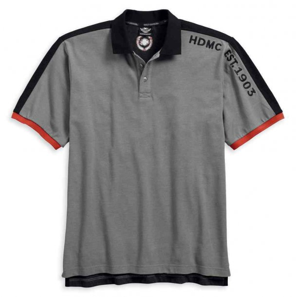 Harley-Davidson® Men's Embroidered Colorblock Polo Shirt