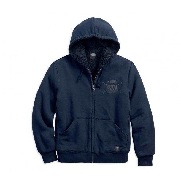 Harley-Davidson® Men's HDMC Arrow Fleece Lined Hoodie, Slim Fit, Blue