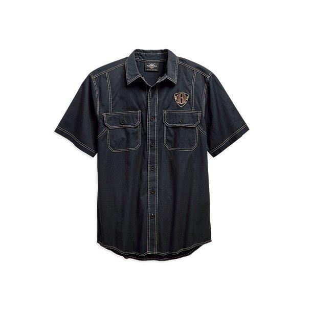 Harley-Davidson® Men's Piston Graphic Short Sleeve Woven Shirt
