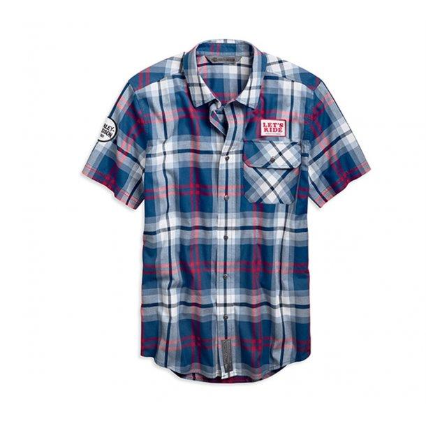 'Let's Ride Plaid Slim Fit Shirt