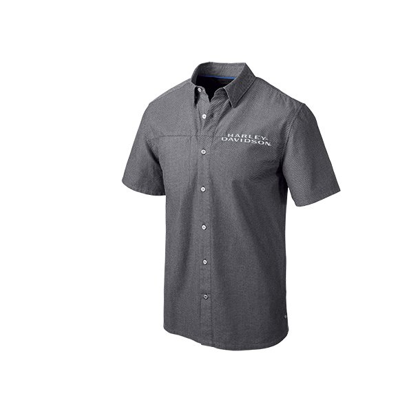 .Performance Vented Textured Slim Fit Shirt