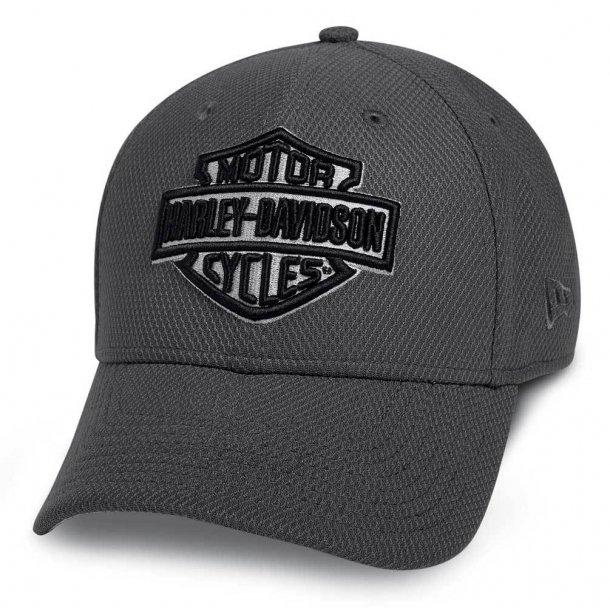 Harley-Davidson® Men's Lightweight Wicking Packable Baseball Cap, Gray