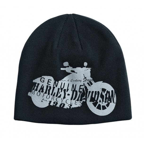 HAT-KNIT,MOTORCYCLE,SILHOUETTE