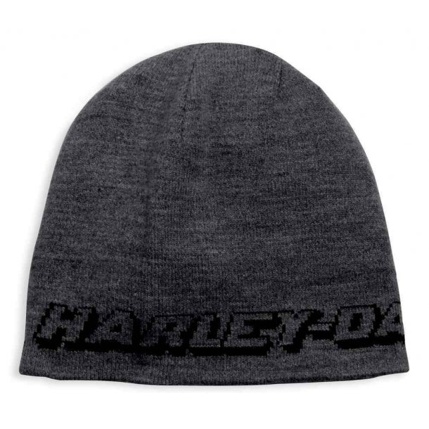 Harley-Davidson® Men's Reversible Eagle Patch Knit Beanie Hat