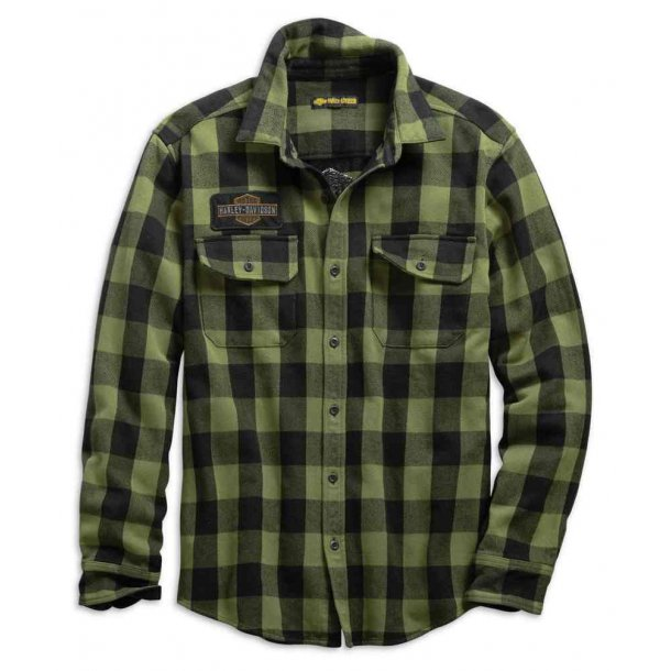 Men's Buffalo Plaid Slim Fit Long Sleeve Shirt