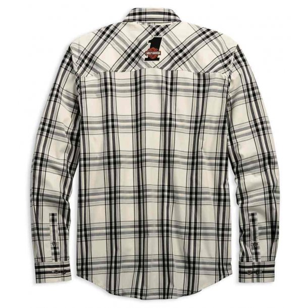 Harley-Davidson® Men's H-D Racing Long Sleeve Plaid Woven Shirt