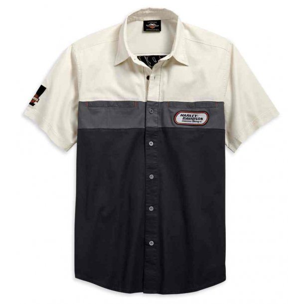 Harley-Davidson® Men's Racing Colorblocked Short Sleeve Woven Shirt
