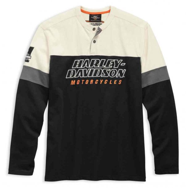 Harley-Davidson® Men's H-D Racing Long Sleeve Colorblocked Henley