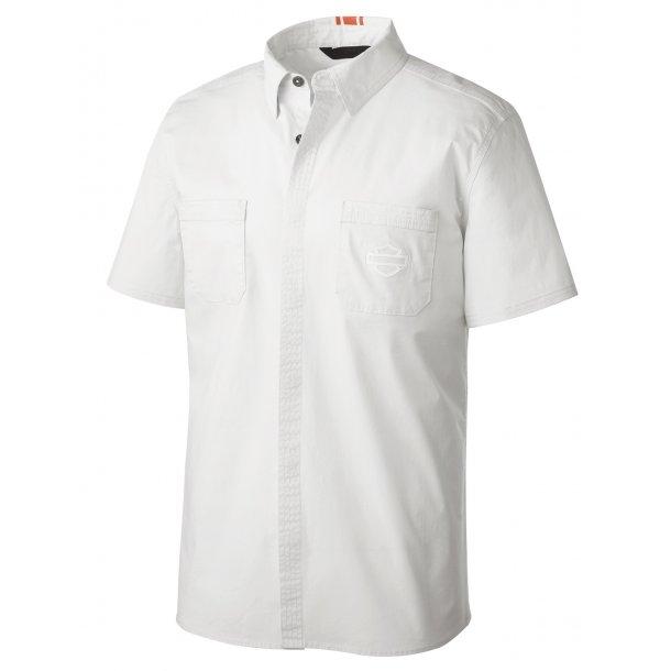 Harley-Davidson Slim Fit Shirt Stretch Poplin white