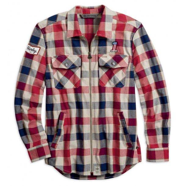 HARLEY-DAVIDSON® Men's #1 Plaid Zippered Slim Fit Shirt Jacket
