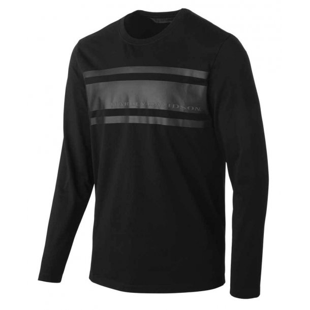 Harley-Davidson® Men's Chest Stripe Slim Fit Long Sleeve Tee