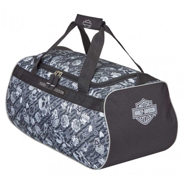 GREY TATTO DUFFEL BAG