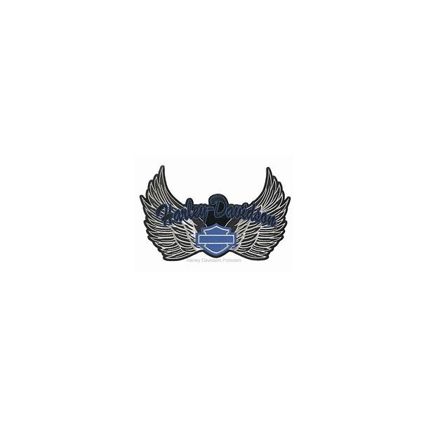 BLUE HARLEY WINGS EMBLEM