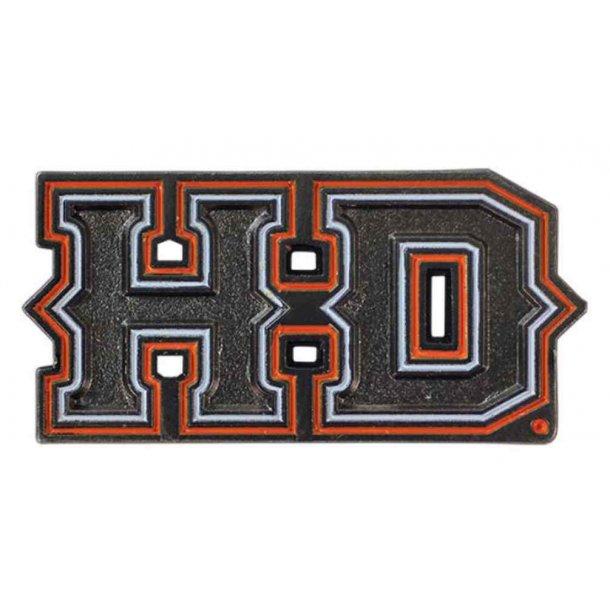 Harley-Davidson® 2D Die Cast Spiked H-D Pin, Black Nickel Matte Finish