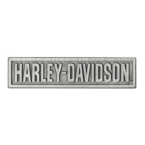 Harley-Davidson® H-D Script Pin, 3D Die Cast, Antique Silver Finish L