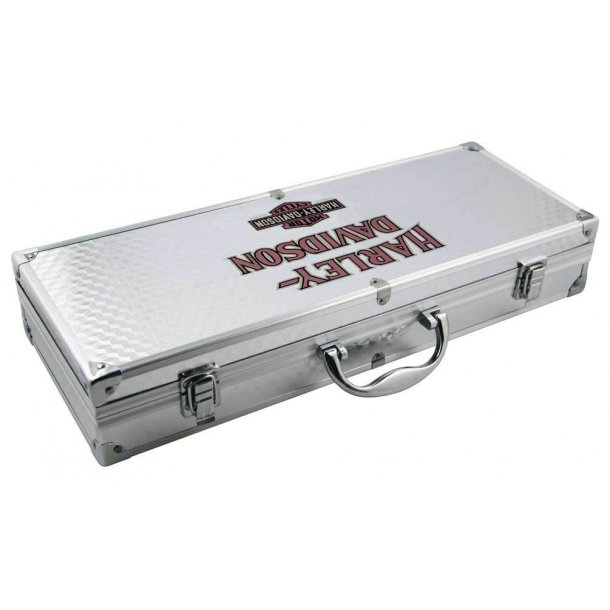 Harley-Davidson® 6-piece Grill Tools Set w/ Metal Silver Carrying Case