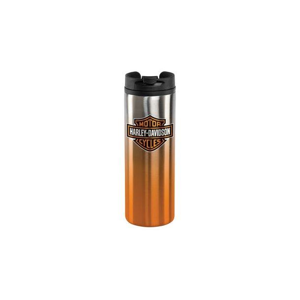 H-D™ Core Bar & Shield Travel Mug - Silver & Orange