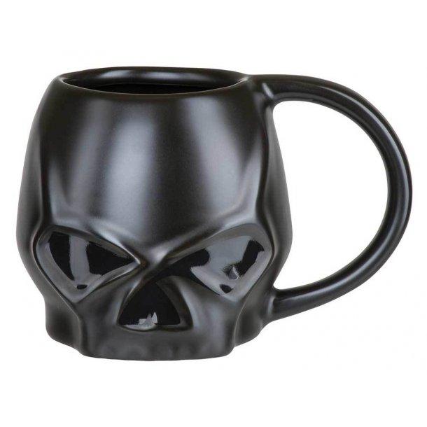 Core Sculpted Skull Coffee Mug - Matte Black