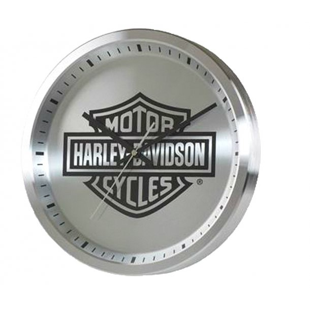 Harley-Davidson® Round Metal Clock | Bar & Shield® Logo