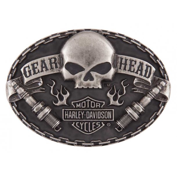 Harley-Davidson Men's Gear Head Belt Buckle