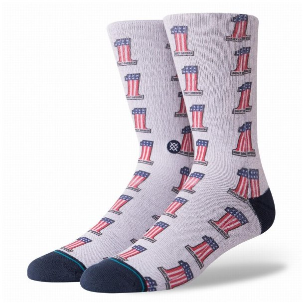 Harley-Davidson® Stance Men's One Americana Crew Height Riding Socks