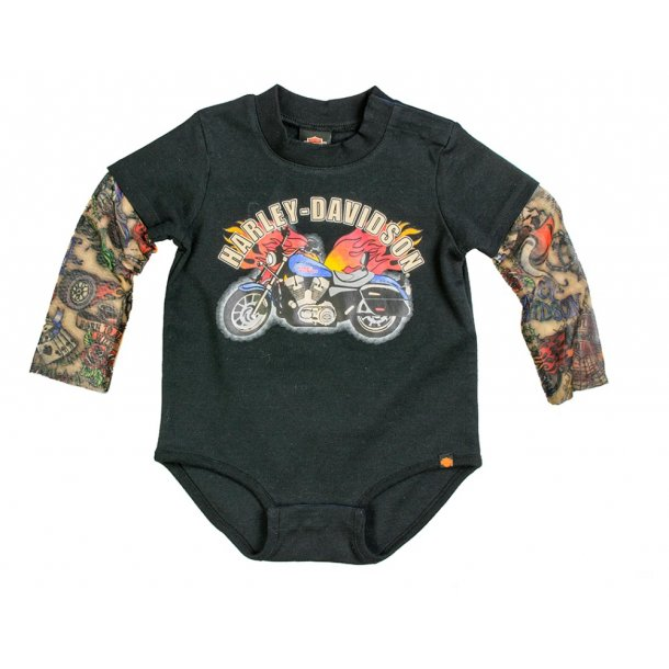 Harley-Davidson® Boys' Black Creeper with Tattoo Sleeves