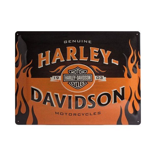 1903 LOGO ORANGE TIN SIGN