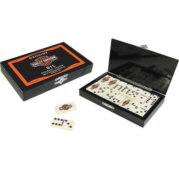 Harley-Davidson B&S Oil Can Black Domino Set.
