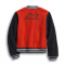FLEECE JACKET SHERPA VARSITY RED