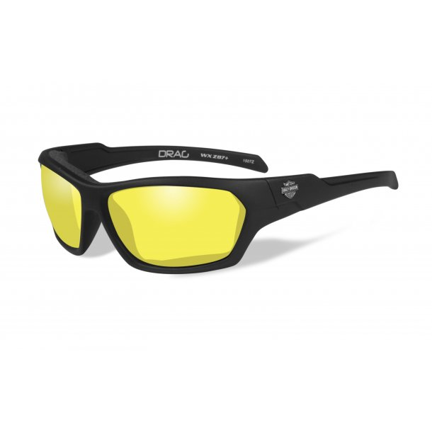 HD DRAG yellow lence, matte black frame
