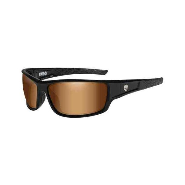 ENDO smoke bronze lence gloss black frame