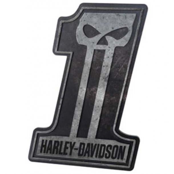 Harley-Davidson® #1 Skull Pub Sign