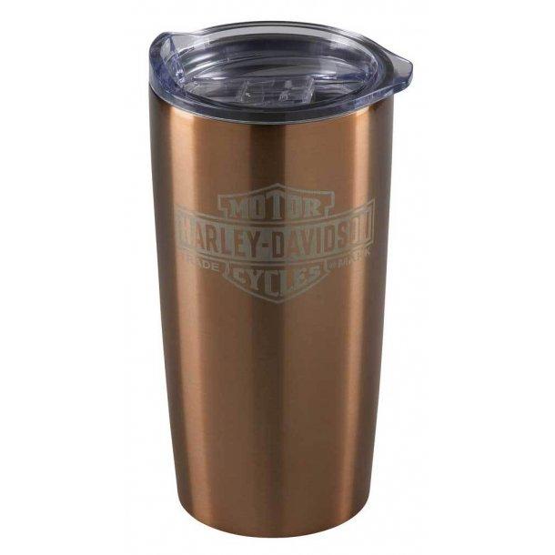 Harley-Davidson® Copper Bar & Shield Stainless Steel Travel Mug, 20 oz
