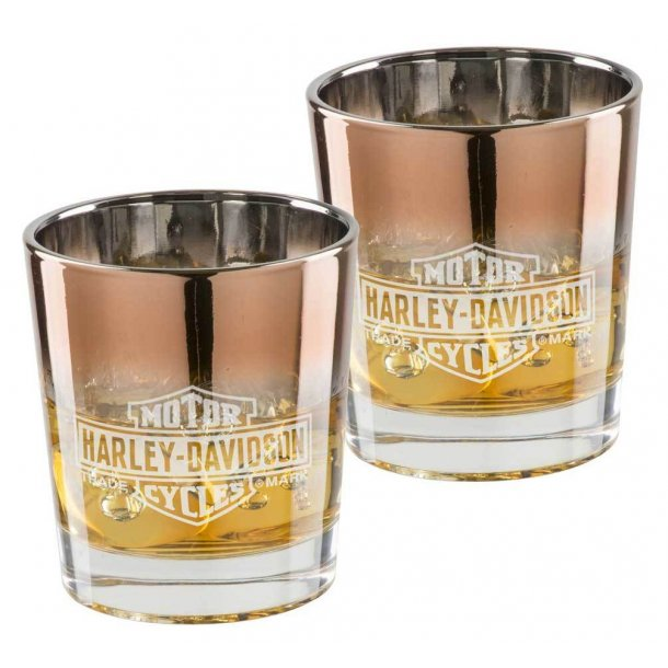 Harley-Davidson® Copper Ombre B&S Double Old Fashioned Set - 8 oz.