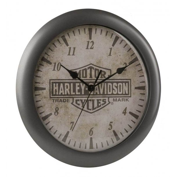 Harley-Davidson® Core Trademark Bar & Shield Logo Clock