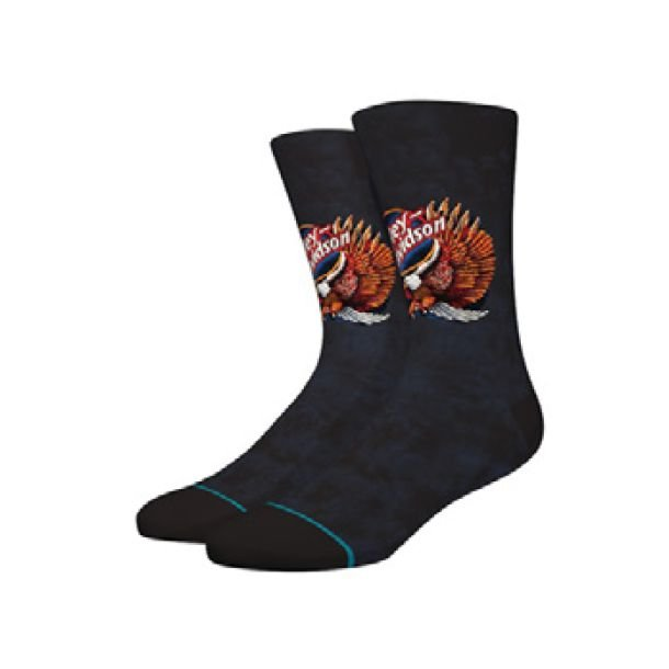 Harley-Davidson® Stance Men's Night Eagle Crew Height Riding Socks