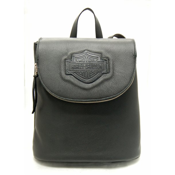 BACK PACK W/ZIPPER FLAP LEATHER