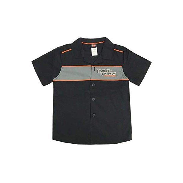 Harley-Davidson Big Boys' Short Sleeve Woven Shop Shirt