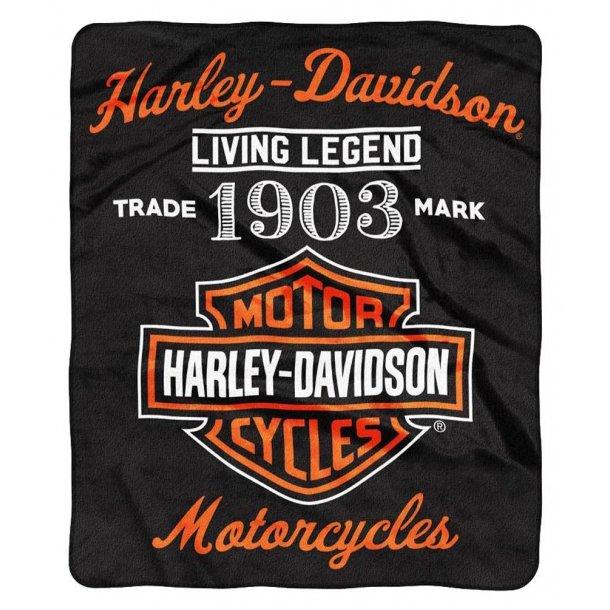 Harley-Davidson® Legend Bar & Shield Raschel Throw Blanket