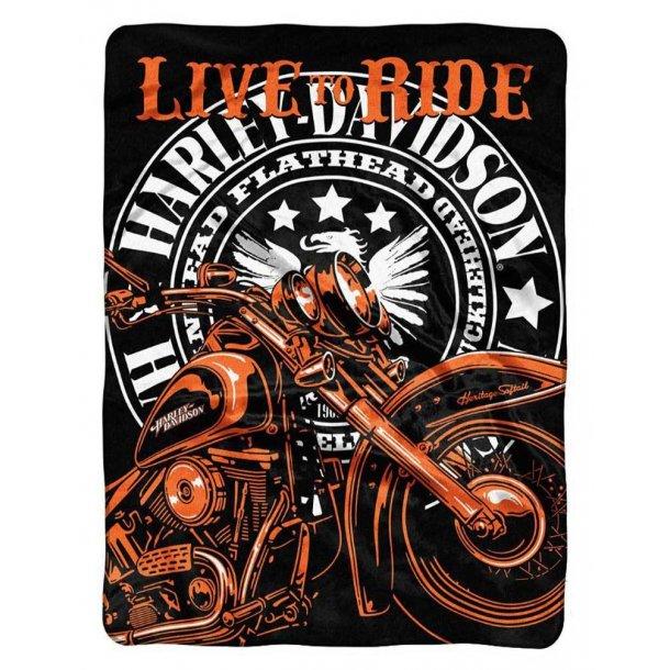Harley-Davidson® Live To Ride Raschel Throw Blanket, 152 x 203 cm