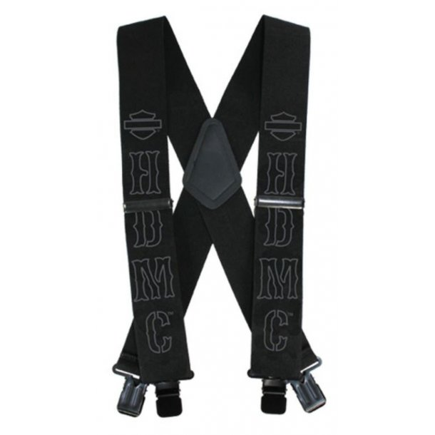 Men's HDMC Black Suspenders