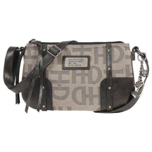 Harley-Davidson® Jacquard Triple Crossbody Bag, Tan/Black