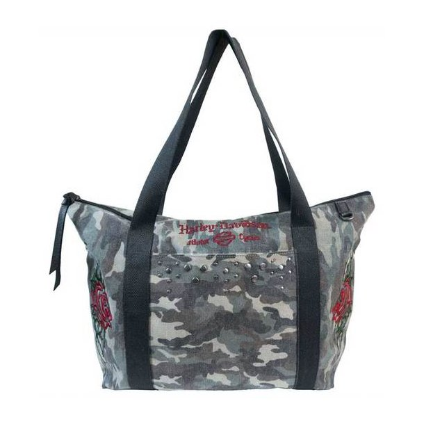 CAMO TOTE WITH EMBROIDERY