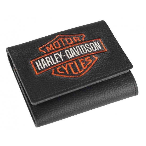 Harley-Davidson® Men's Embroidered Bar & Shield Tri-Fold Wallet