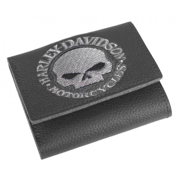 Harley-Davidson® Men's Embroidered Willie G Skull Tri-Fold Wallet